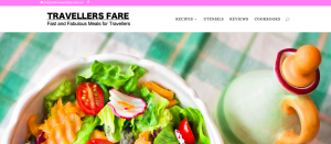 Home Page Of Website Travellers Fare Fast and Fabulous Meals For Travellers With a Lovely Salad